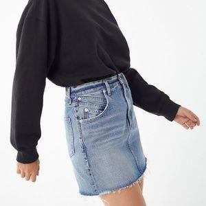 Agolde Palmer High Rise Mini Skirt in Temptation
